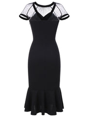 Dressystar Black Party Dress Formal  Mermaid Evening Dress Maix Long
