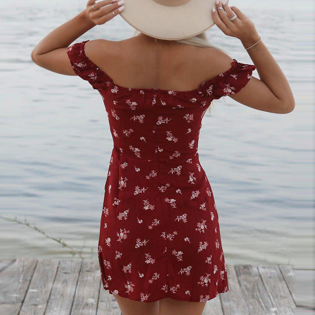Dressystar Red Women Cap Sleeve Summer Dress Cap Sleeve Mini Dress