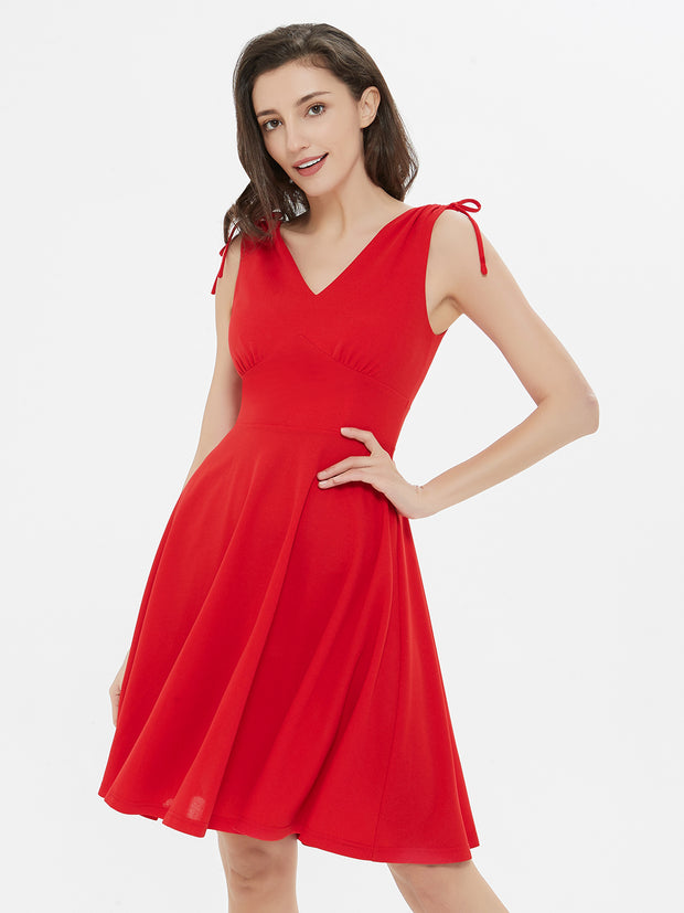 Feeling Good Red Short Sleeveless Dress