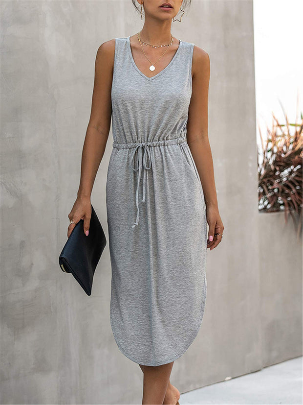 Watch the Sunset Grey Midi Dress