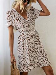 Pretty Print Wrap Dress