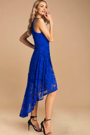 Dressystar women's halter hi-lo cocktail party dress 0028 royalblue side