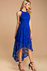 Dressystar women's halter hi-lo cocktail party dress 0028 royalblue main