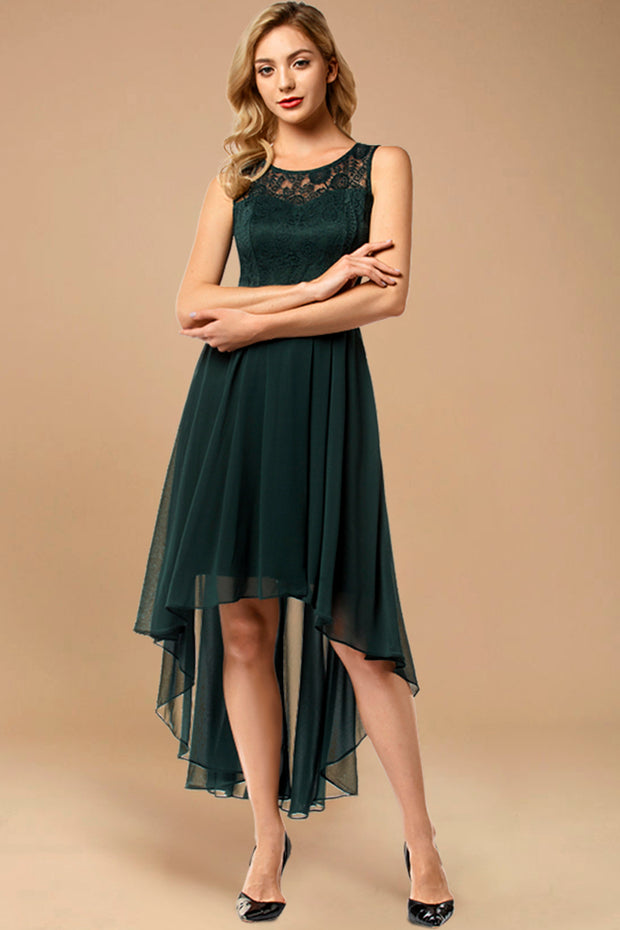 Dressystar women hi-lo formal dress 0038 green main