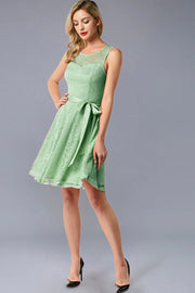 Dressystar women's short lace bridesmaid dress 0009 mint side
