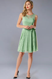 Dressystar women's short lace bridesmaid dress 0009 mint main