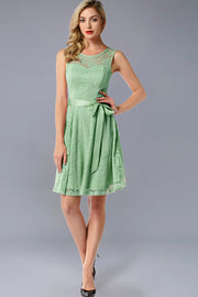 Dressystar women's short lace bridesmaid dress 0009 mint front