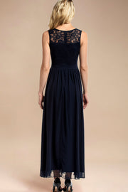Dressystar women sleeveless maxi formal dress 0046 navy back