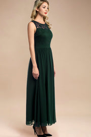 Dressystar women sleeveless maxi formal dress 0046 darkgreen side