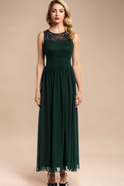 Dressystar women sleeveless maxi formal dress 0046 darkgreen front