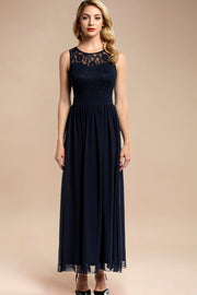 Dressystar women sleeveless maxi formal dress 0046 navy main