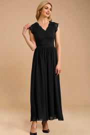 dressystar women's v neck sleeveless wedding party gown 0050 black more detail 2