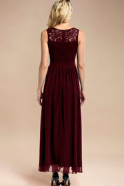 Dressystar women sleeveless maxi formal dress 0046 burgundy back