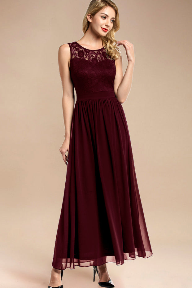 Dressystar women sleeveless maxi formal dress 0046 burgundy main