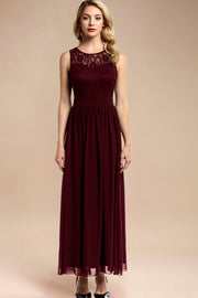 Dressystar women sleeveless maxi formal dress 0046 burgundy front