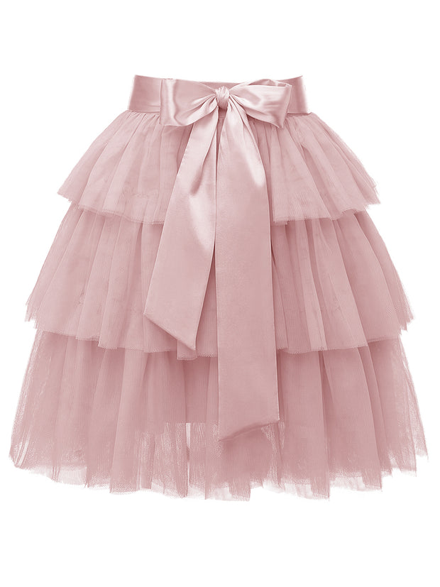 Dressystar High Waist  Princess Tulle Skirt  Adult A-line Dance Tutu  Wedding  Short  Party  Prom Skirt