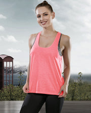 Workout Tank Tops with Built in Bra in Coral