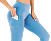 Workout Leggings in Sky Blue