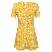 Dressystar Yellow Women Summer Casual Print T Shirt Dress Beach