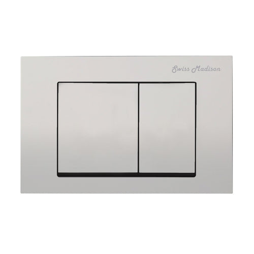Actuator Plates - SM-WC002C Wall Mount Actuator Flush Push Button Plate With Square Buttons In Matte Chrome