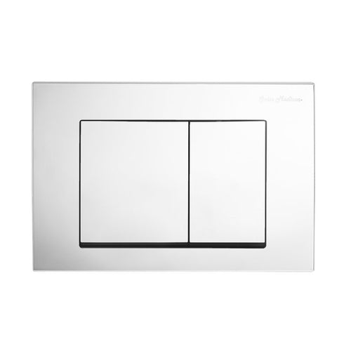 Actuator Plates - SM-WC002S Wall Mount Actuator Flush Push Button Plate With Square Buttons In Polished Chrome