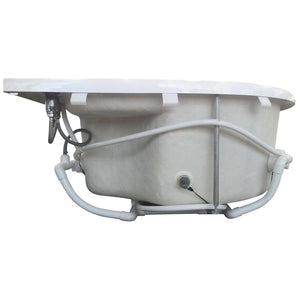 Bathtubs - EAGO AM124ETL 6-Foot Corner Acrylic White Whirlpool Bathtub For Two