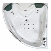 Load image into Gallery viewer, Bathtubs - EAGO AM125ETL 5 Ft Corner Acrylic White Whirlpool Bathtub For Two W Fixtures