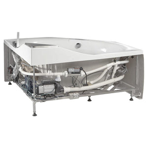 Bathtubs - EAGO AM168ETL 5 Ft Rounded Corner Acrylic Whirlpool Bathtub For Two
