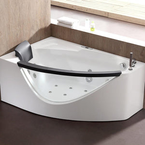 Bathtubs - EAGO AM198ETL 5-Foot Clear Rounded Left Corner Acrylic Whirlpool Bathtub