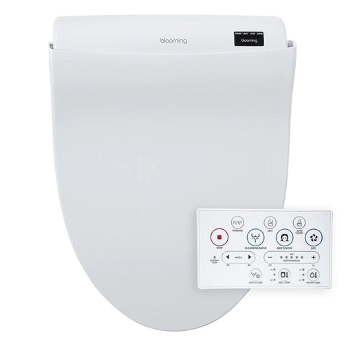 Bidets - Blooming NB-R1570 White Luxury Bidet Seat With Remote Control