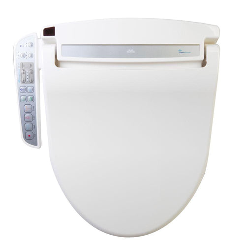 Bidets - DIB-1500 White Automatic Smart Bidet Seat With Attached Touch-Pad Control Panel