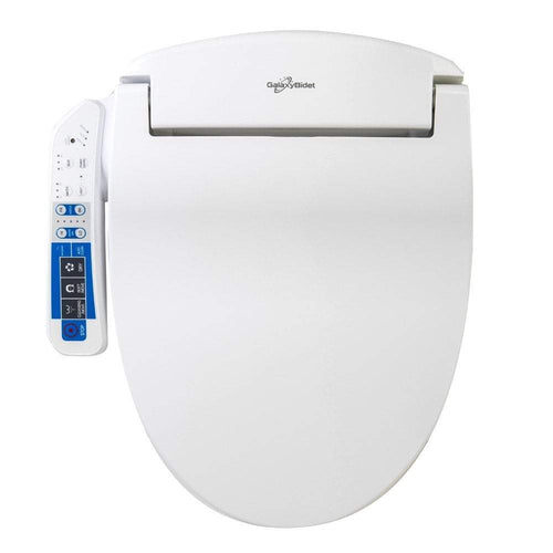 Bidets - GB-4000 White Bidet Toilet Seat With Side Panel Touch-Pad Control