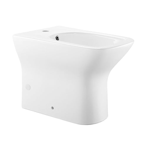 Bidets - SM-BD228 Carre Floor Mount Back-to-Wall Bidet Toilet