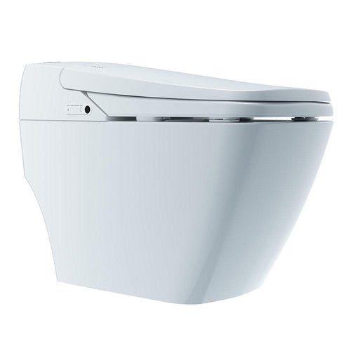 Bio Bidet - Bio Bidet P700 Prodigy Advanced Automatic Floor Mount Smart Toilet Bidet System With Remote Control