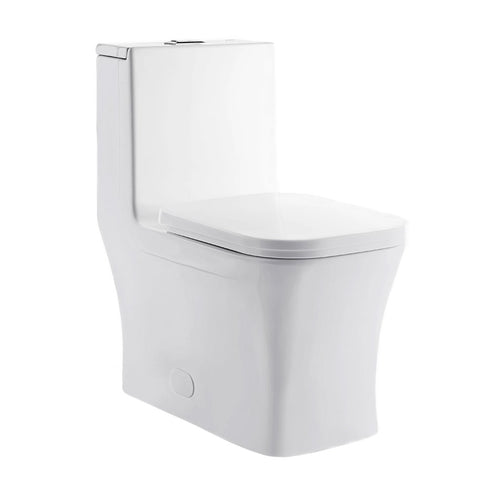 Dual Flush Toilet - SM-1T106 Concorde One Piece Square Toilet Dual Flush 0.8/1.28 Gp