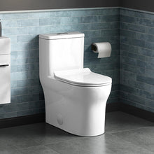 Load image into Gallery viewer, Dual Flush Toilet - SM-1T111 Burdon One Piece Toilet Dual Flush 0.8/1.28 Gpf