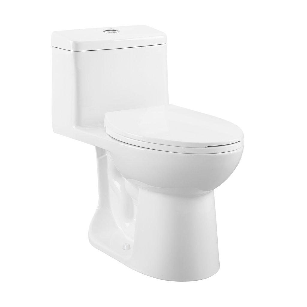 Dual Flush Toilet - SM-1T122 Avallon One Piece Elongated Dual Flush Toilet 0.8/1.28 Gpf