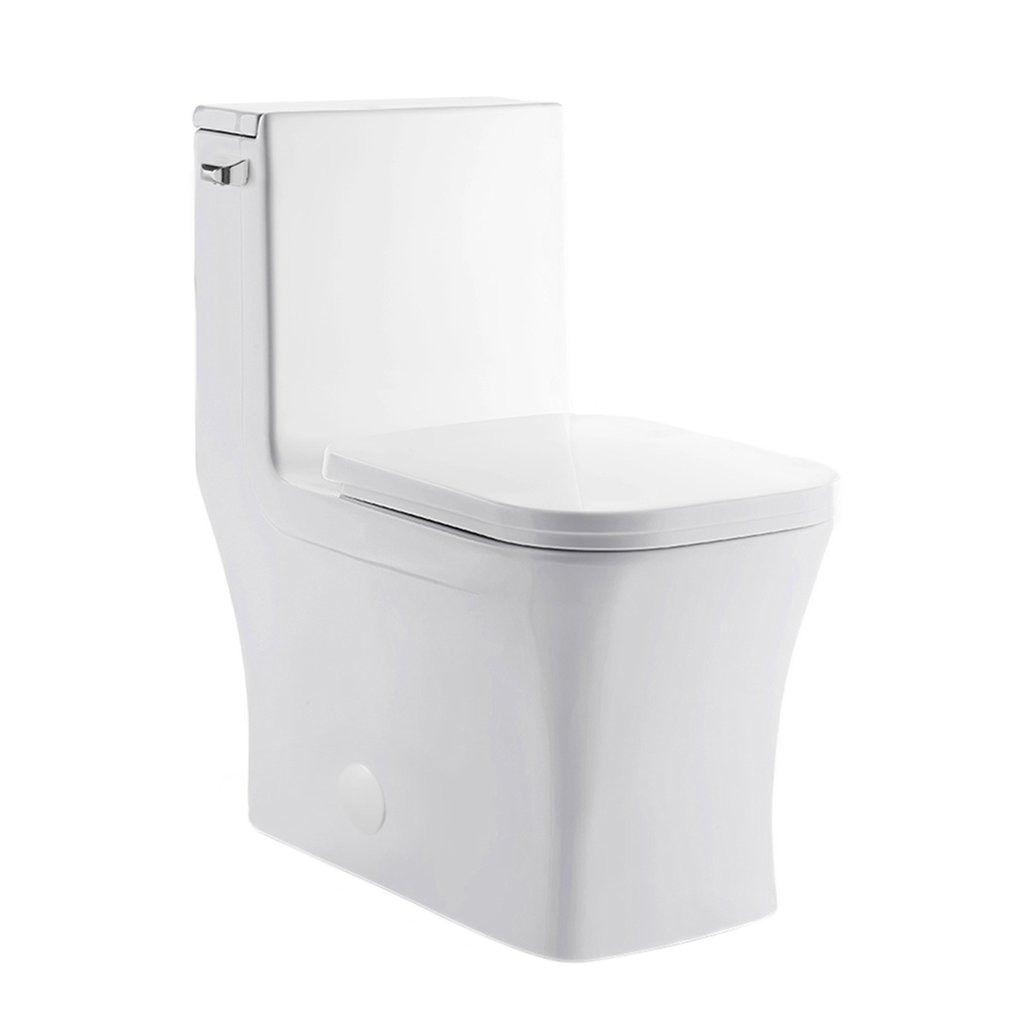 Left Side Flush Toilet - SM-1T107 Concorde One Piece Elongated Left Side Flush Handle Toilet