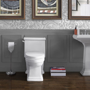 Left Side Flush Toilet - SM-1T114 Voltaire One Piece Elongated Toilet Side Flush 1.28 Gpf
