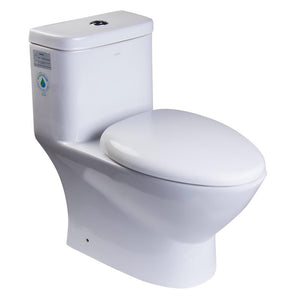 One Piece Toilet - EAGO TB346 Modern Dual Flush One Piece Eco-friendly High Efficiency Low Flush Ceramic Toilet