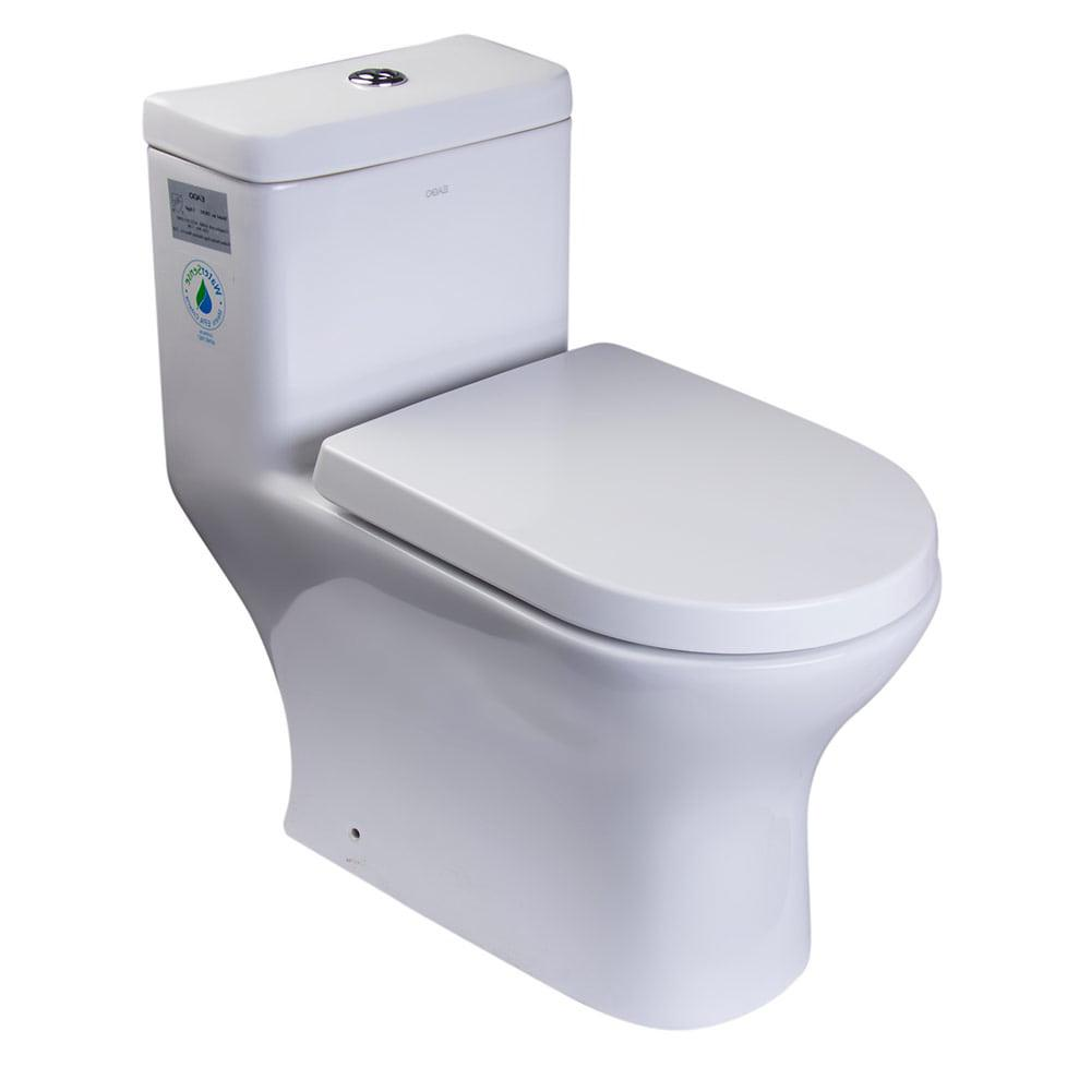 One Piece Toilet - EAGO TB353 Dual Flush One Piece Eco-friendly High Efficiency Low Flush Ceramic Toilet