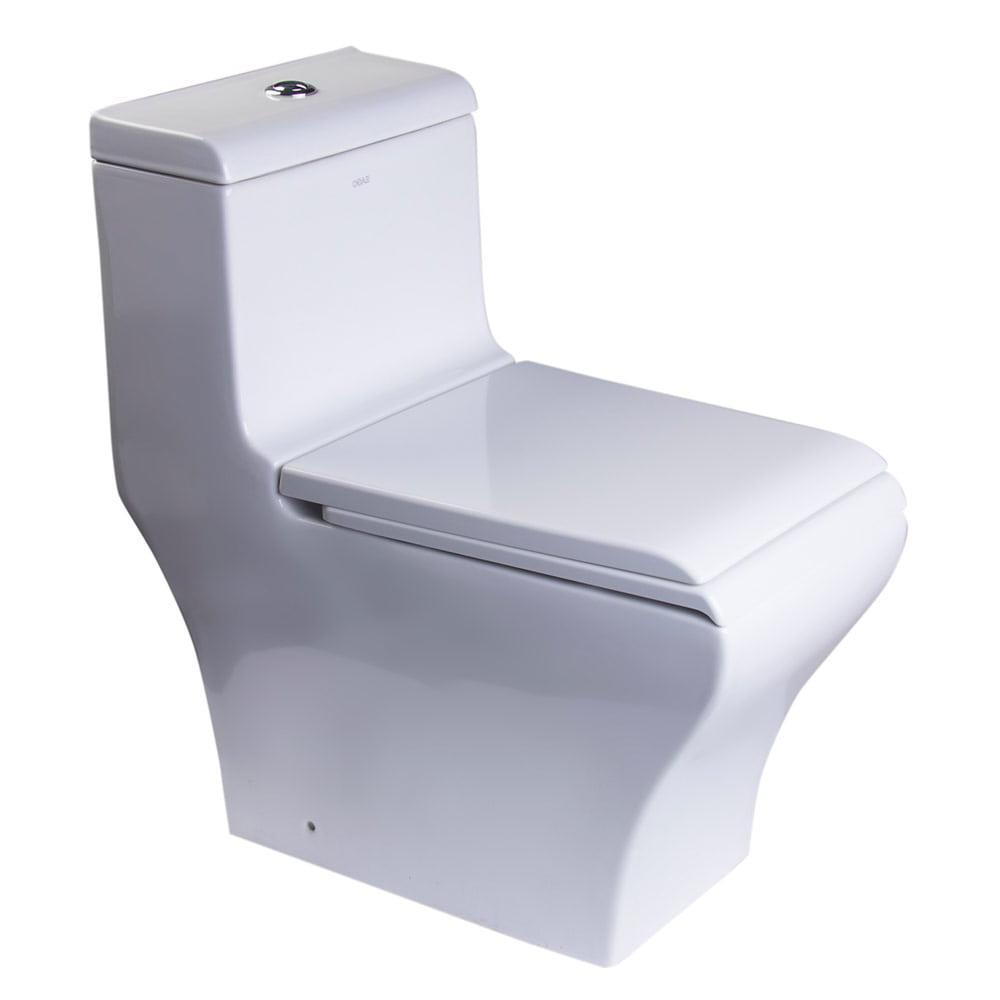 One Piece Toilet - EAGO TB356 Dual Flush One Piece Eco-friendly High Efficiency Low Flush Ceramic Toilet