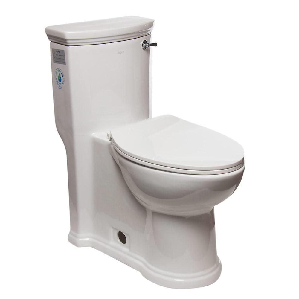 One Piece Toilet - EAGO TB364 ADA Compliant One Piece Single Flush Toilet