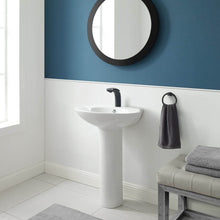 Load image into Gallery viewer, Pedestal Bathroom Sink - SM-PS309 Plaisir Rounded Basin Pedestal Sink