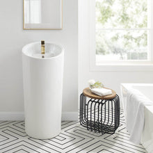 Load image into Gallery viewer, Pedestal Bathroom Sink - SM-PS310 St. Tropez One Piece Pedestal Sink