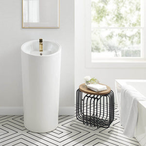 Pedestal Bathroom Sink - SM-PS310 St. Tropez One Piece Pedestal Sink