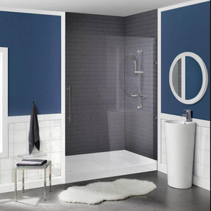 "Shower Base - Voltaire SM-SB520 60"" X 36"" Black Acrylic Single-Threshold Shower Base"