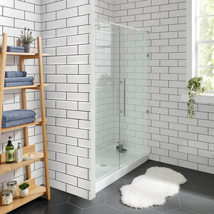 "Shower Base - Voltaire SM-SB533 60"" X 30"" Black Acrylic Single-Threshold Shower Base"