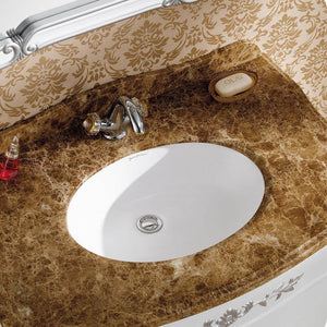 "Undermount Bathroom Sink - SM-UM621 Plaisir 18"" Oval Under-Mount Bathroom Sink"