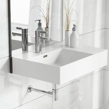 Load image into Gallery viewer, Wall Mount Bathroom Sink - SM-WS322 St. Tropez 24 X 18 Ceramic Wall Hung Sink With Left Side Faucet Mount
